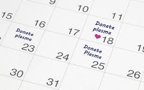 تقویم اهدای پلاسما