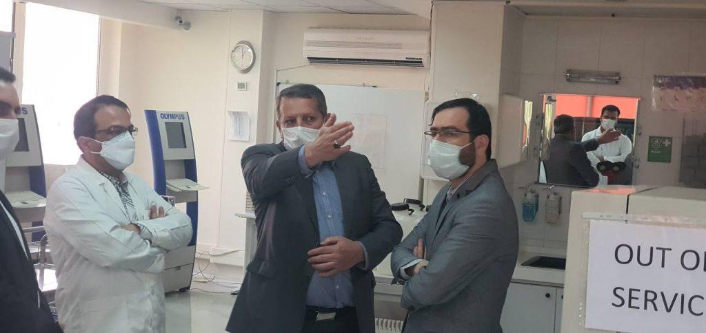 حضور دکتر محمدی مدیرکل سازمان غذا و دارو در مرکز اهدای پلاسمای خون بیودارو